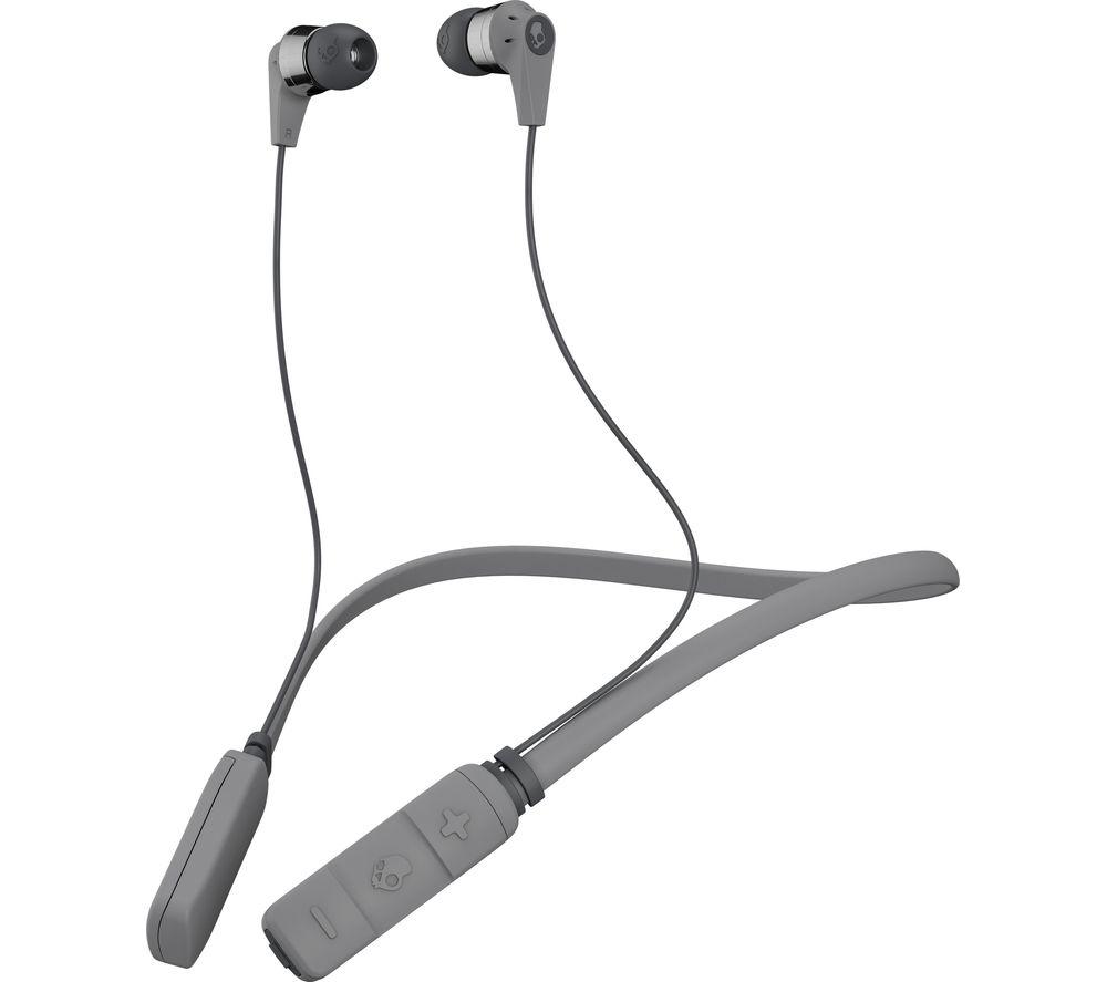 SKULLCANDY Ink'd Wireless Bluetooth Headphones - Grey & Chrome