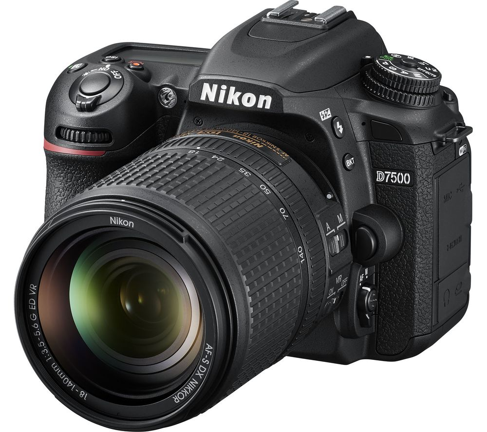 NIKON D7500 DSLR Camera with 18-40 mm f/3.5-5.6G ED VR Lens - Black