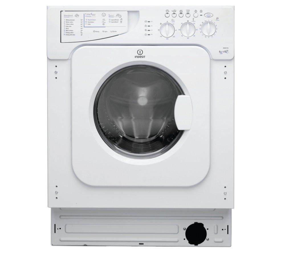 Washing Drying Machine Buy Indesit Ecotime Iwde146 Integrated Washer Dryer Free
