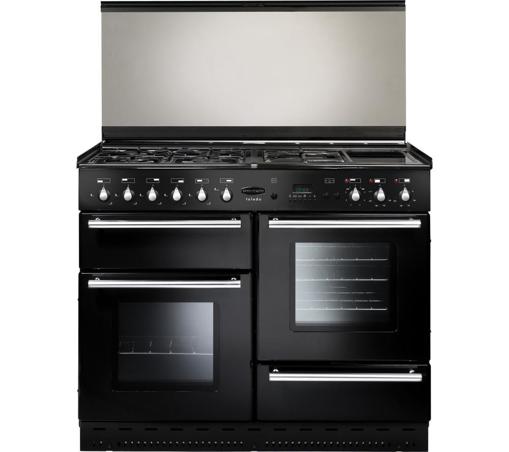 RANGEMASTER Toledo 110 Dual Fuel Range Cooker - Black & Satin