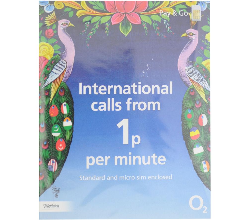 O2 International Pay As You Go SIM Card