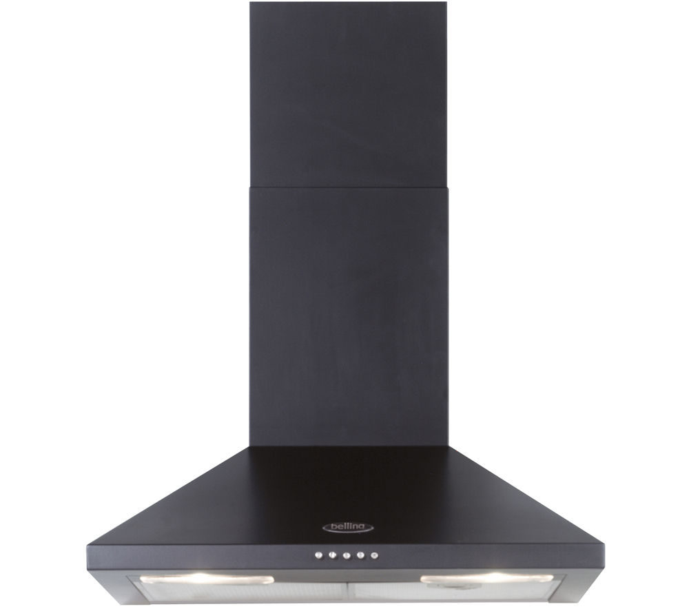 BELLING 60CHIM Chimney Cooker Hood - Black