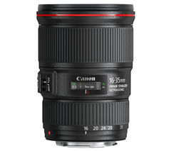 CANON EF 16-35 mm f/4L USM IS Wide-angle Zoom Lens - Black