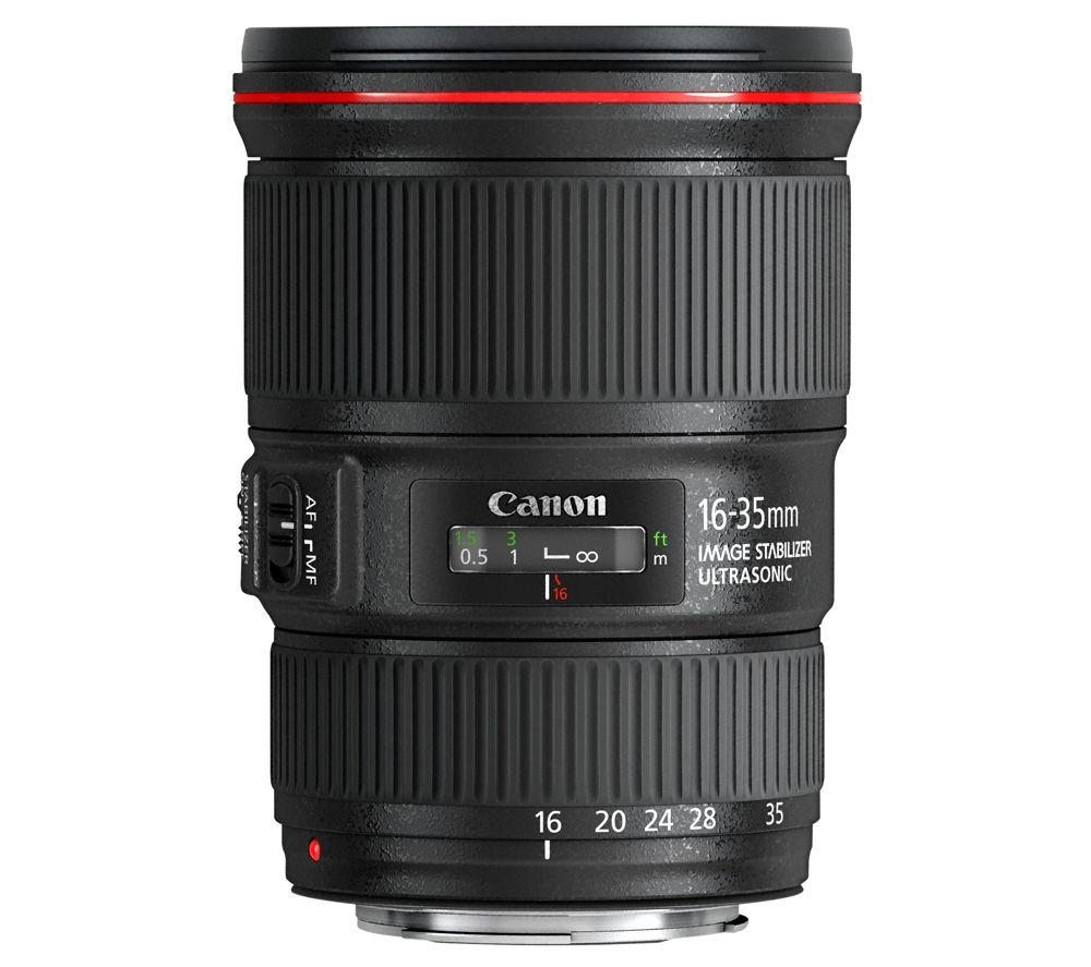 CANON EF 16-35 mm f/4L USM IS Wide-angle Zoom Lens - Black