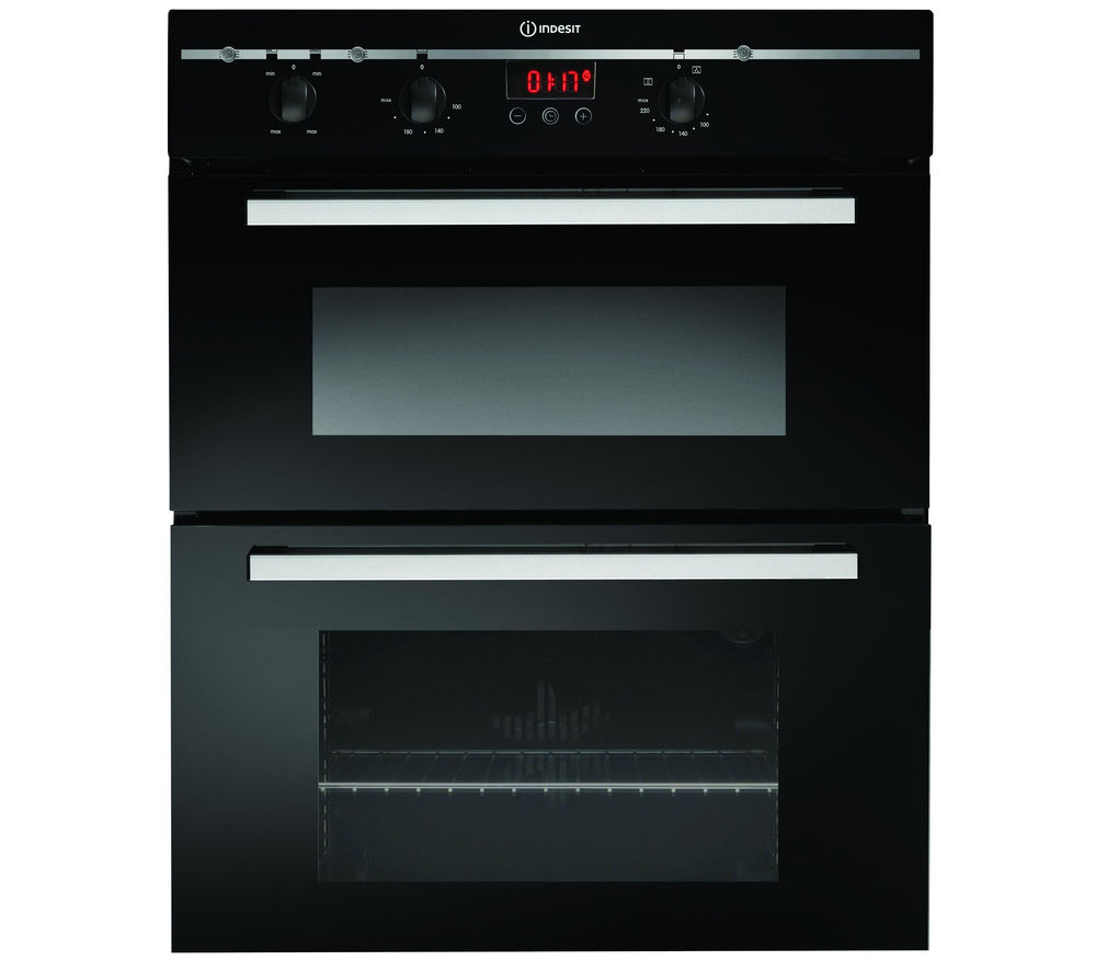 INDESIT FIMU23BKS Electric Double Oven - Black