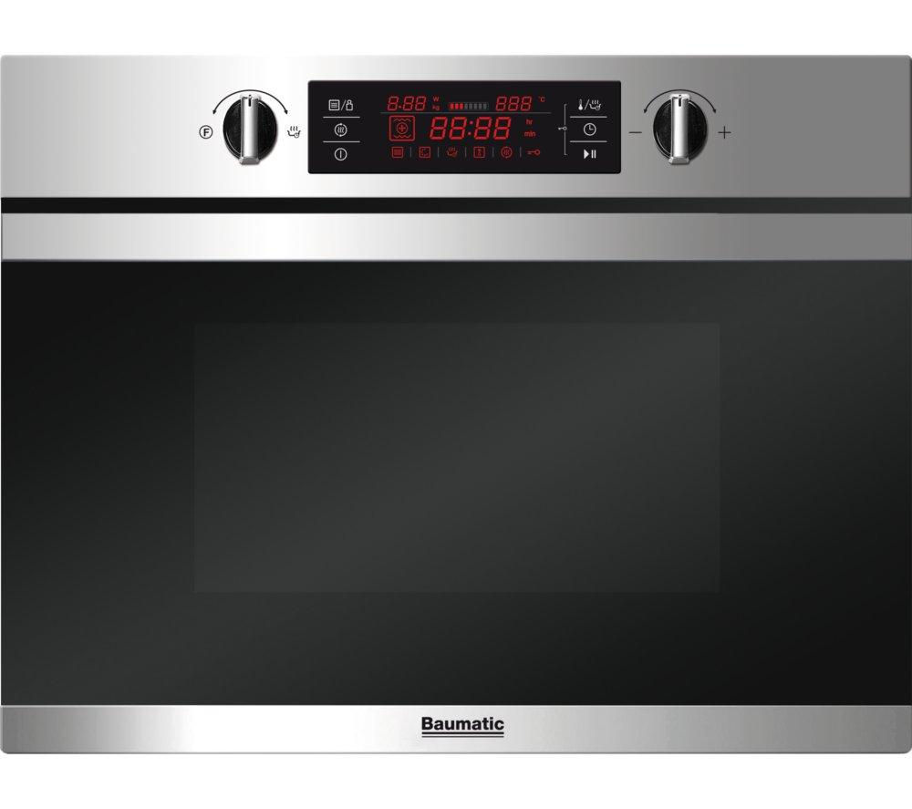 Image of Baumatic BMC450SS Built-in Combination Microwave - Stainless steel, Stainless Steel