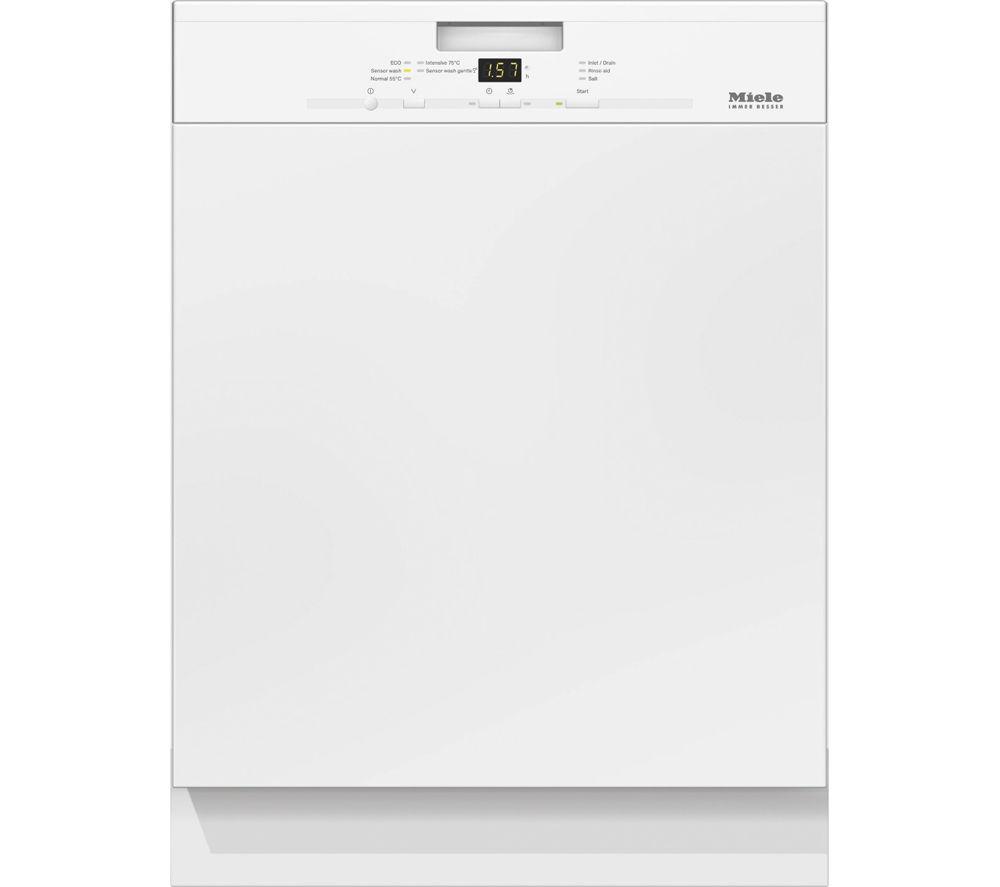 Image of Miele G4920 BK Full-size Dishwasher - White, White