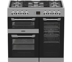 LEISURE Cuisinemaster 90 Dual Fuel Range Cooker - Stainless Steel