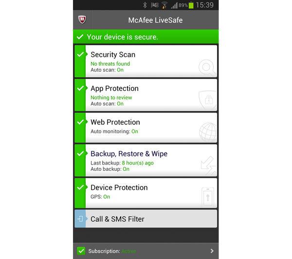 Как Активировать Mcafee Internet Security На Андроид