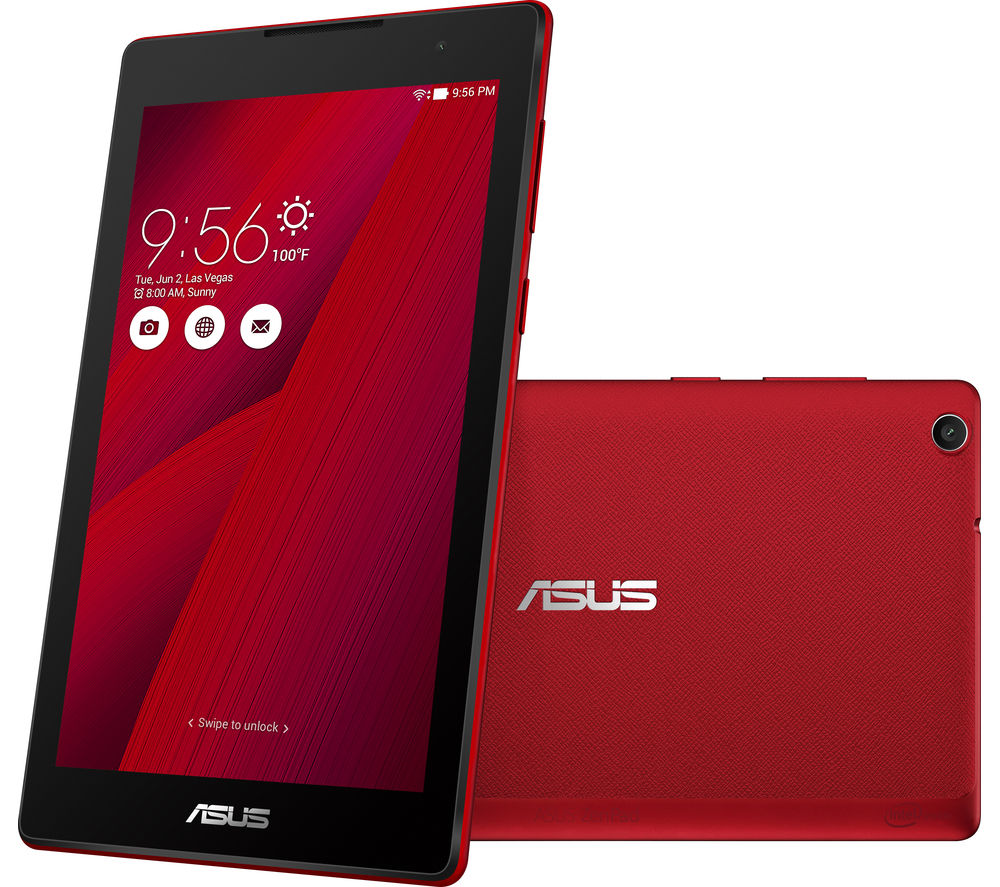 "Image of Asus ZenPad Z170C 7"" Tablet - 16 GB, Red"