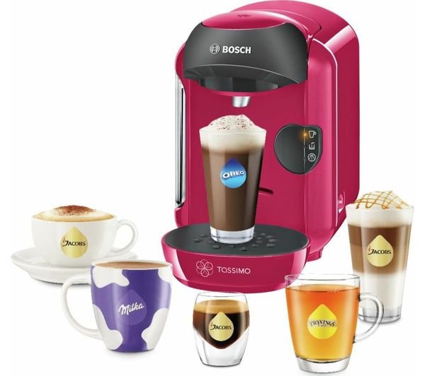 Vivy II TAS1251GB Hot Drinks Machine  Pink  Free Delivery  Currys