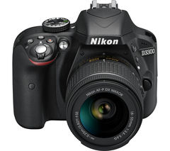 NIKON D3300 DSLR Camera with 18-55 mm f/3.5-5.6 Lens - Black