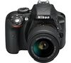 NIKON D3300 DSLR Camera with 18-55 mm f/3.5-5.6 II ED Zoom Lens – Black