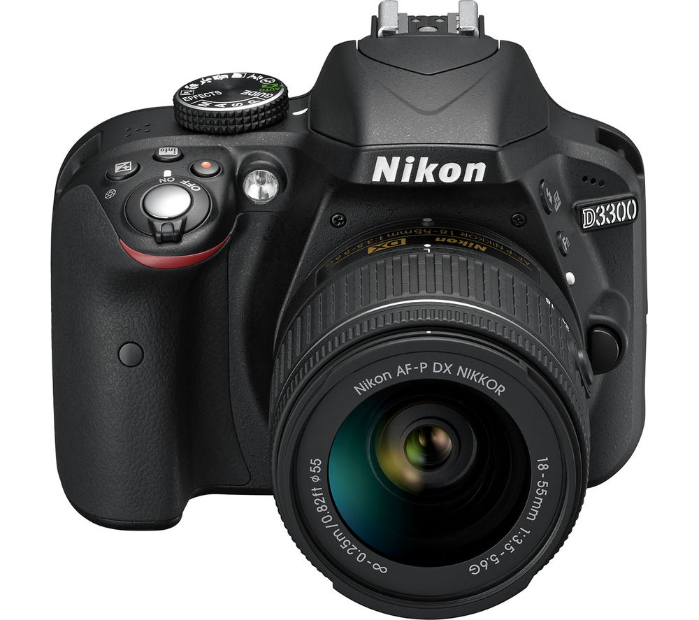 NIKON  D3300 DSLR Camera with 18-55 mm f/3.5-5.6 Zoom Lens – Black +  eLearning - Photoshop