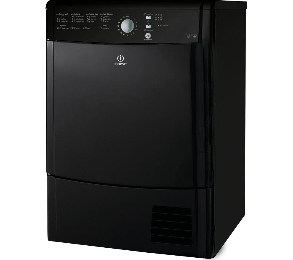Lg Tumble Dryer Black ~ Indesit ecotime idcl bhk condenser tumble dryer black