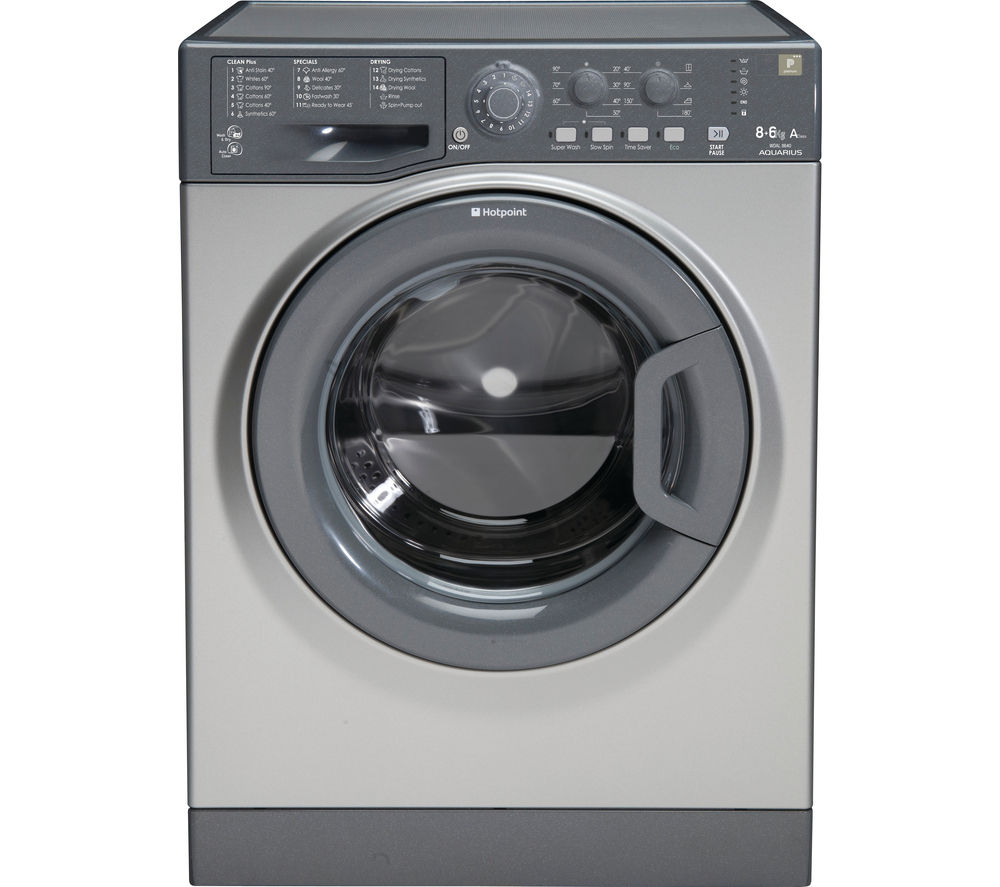 Image of Hotpoint Aquarius WDAL8640G Washer Dryer - Graphite, Graphite