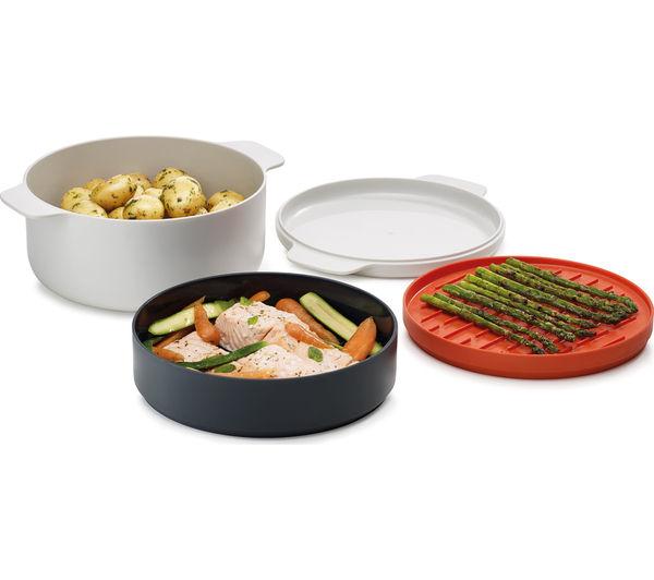 Buy joseph joseph m cuisine 4 piece stackable microwave for Art cuisine stone cookware