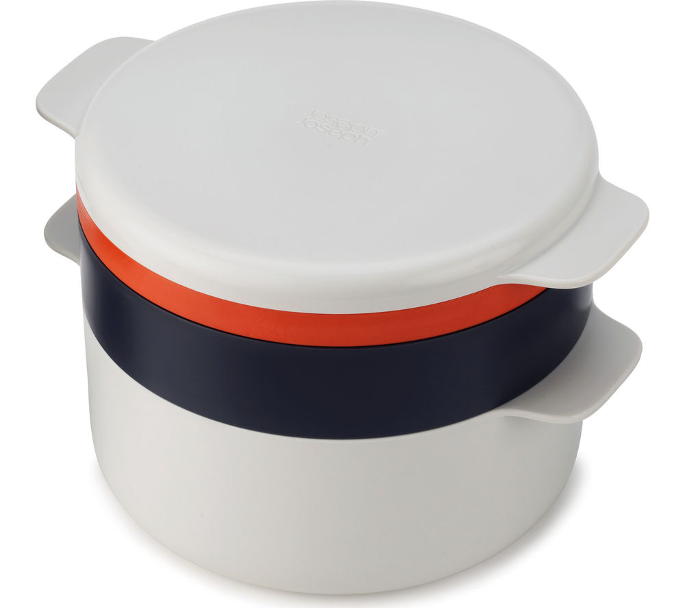 JOSEPH JOSEPH M-Cuisine 4-Piece Stackable Microwave Cooking Set - Stone & Orange