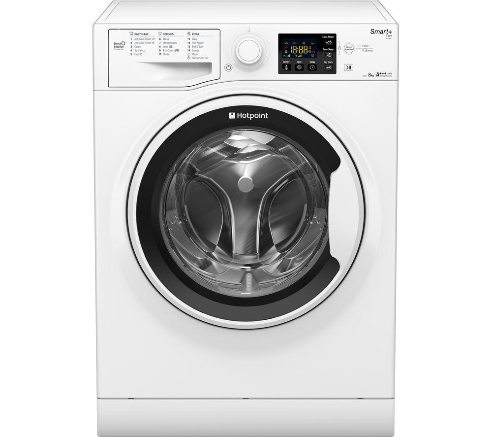HOTPOINT Smart+ RSG864J Washing Machine - White