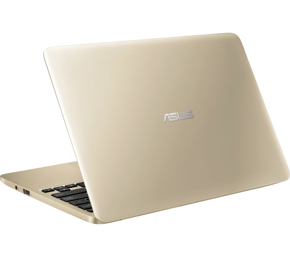 "ASUS E200HA 11.6"" Laptop - Gold + Office 365 Personal + LiveSafe Unlimited 2017 - 1 year"