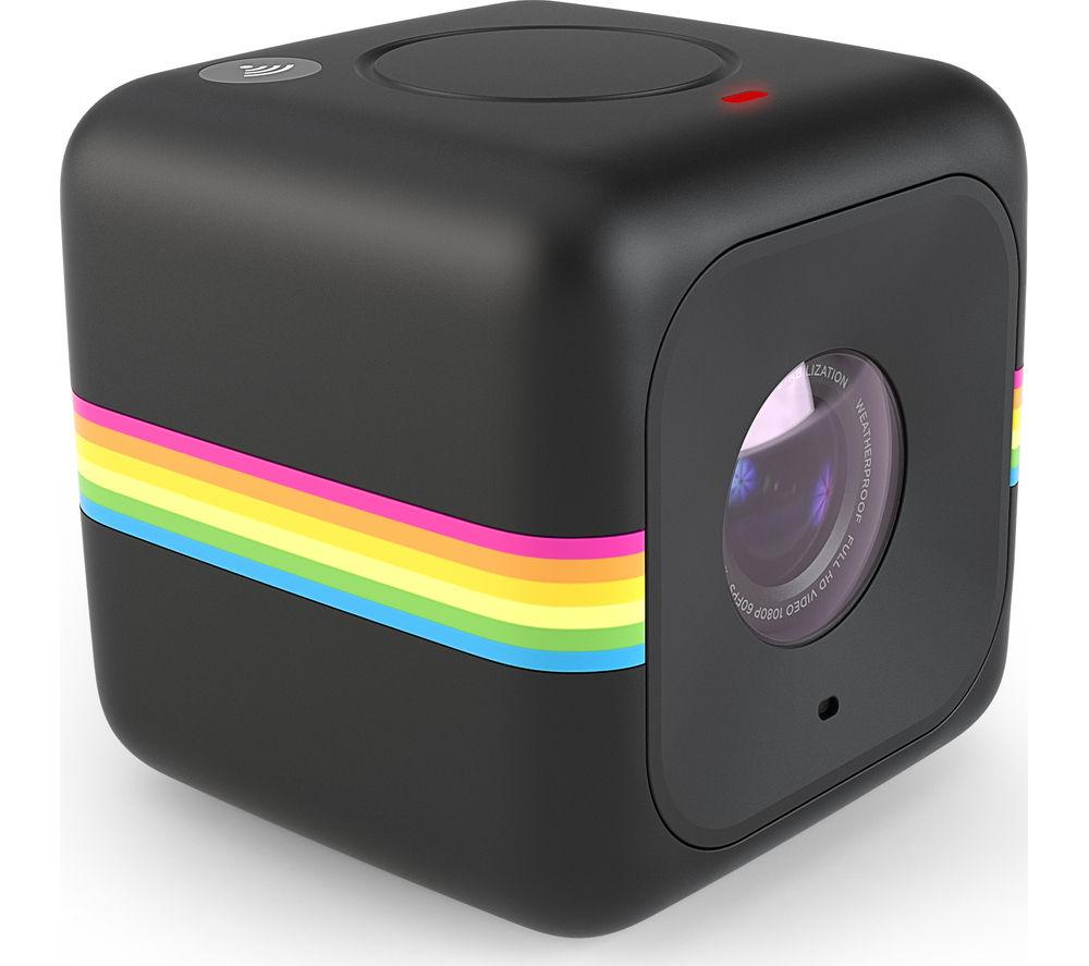 POLAROID  Cube Action Camcorder - Black, Black