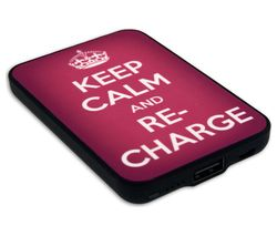 JACK & CABLES Keep Calm and Re-Charge Portable Power Bank - Pink