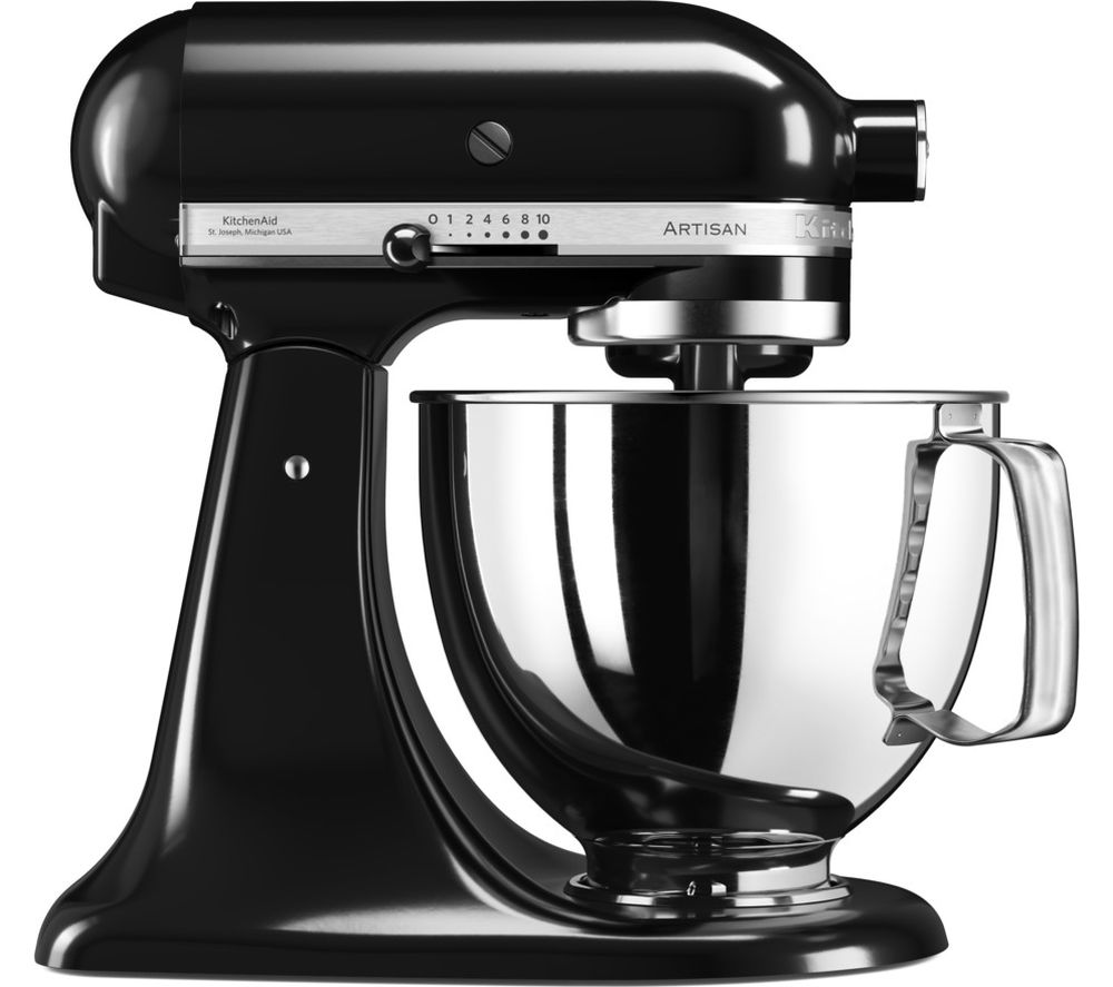 buy kitchenaid artisan 5ksm125bob stand mixer onyx black. Black Bedroom Furniture Sets. Home Design Ideas