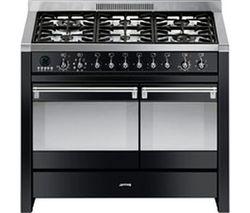 SMEG Opera 100 cm Dual Fuel Range Cooker - Black