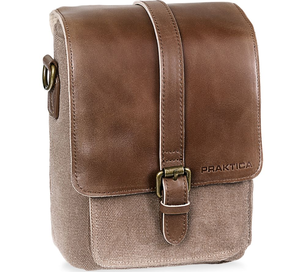 PRAKTICA Heritage PAB49BR Binocular Shoulder Case - Brown & Tan