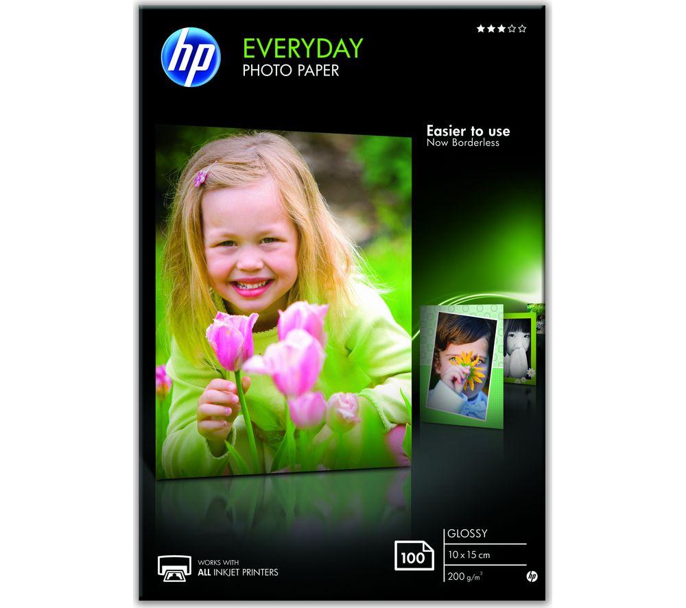 HP 100 x 150 mm Photo Paper - 100 Sheets
