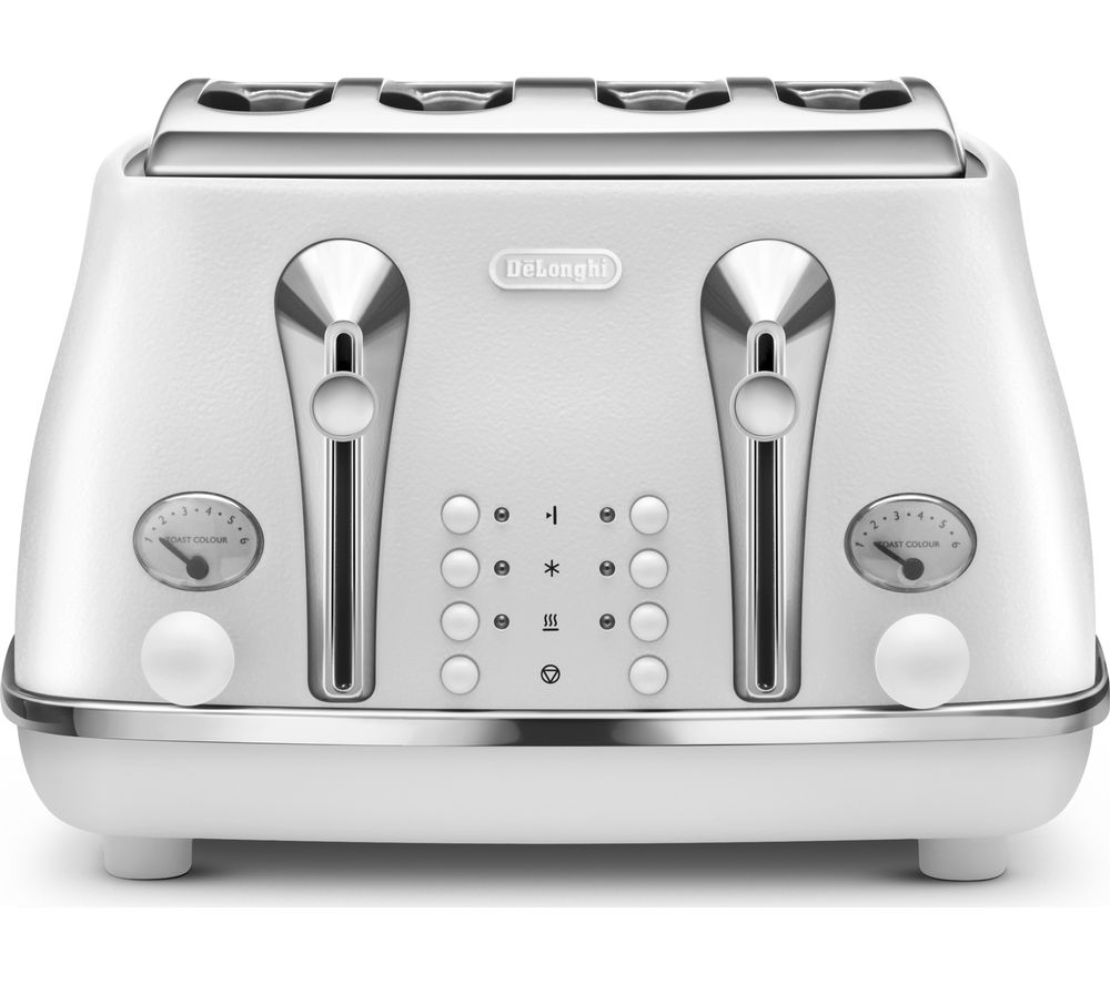 DELONGHI Elements CTOE4003.W 4-Slice Toaster - White