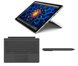 MICROSOFT Surface Pro 4, Typecover & Surface Pen Bundle - 128 GB