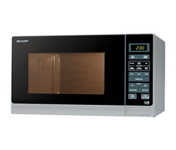 SHARP R372SLM Solo Microwave - Silver