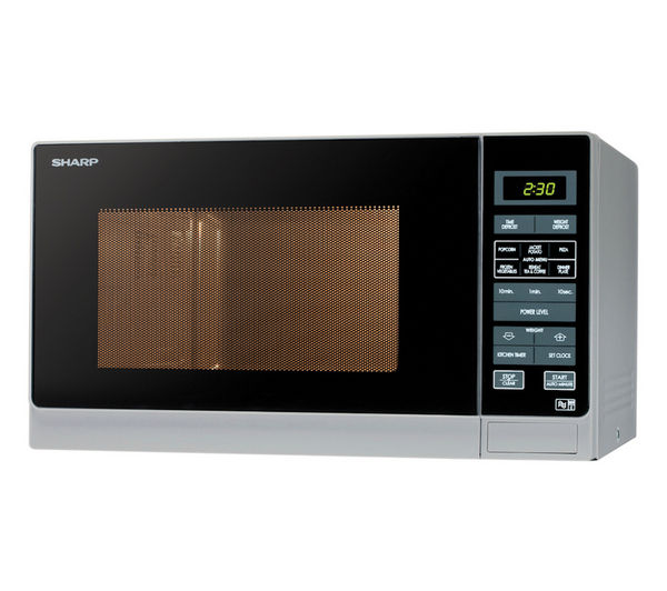 Sharp R372SLM Solo Microwave  Silver Silver
