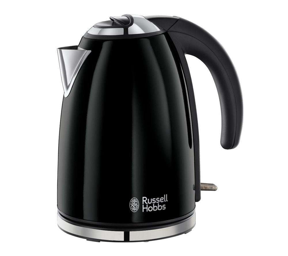 buy russell hobbs colours 18946 jug kettle black colours 14361 2 slice toaster black. Black Bedroom Furniture Sets. Home Design Ideas