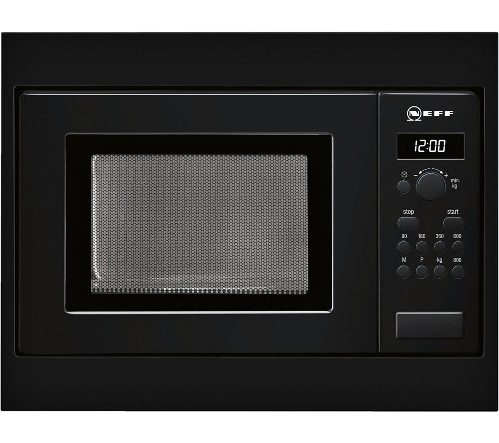 Image of Neff H53W50S3GB Built-in Solo Microwave - Black, Black