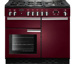 RANGEMASTER Professional+ 100 Dual Fuel Range Cooker - Cranberry & Chrome