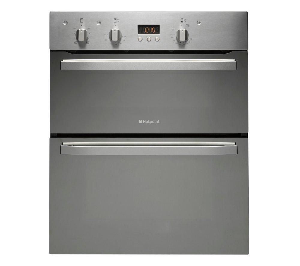 HOTPOINT UD53X Electric Built-under Double Oven - Stainless Steel