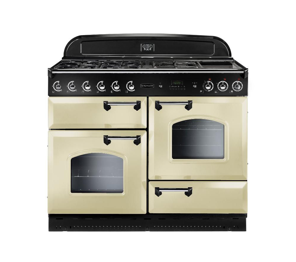 RANGEMASTER Classic 110 Gas Range Cooker - Cream & Chrome