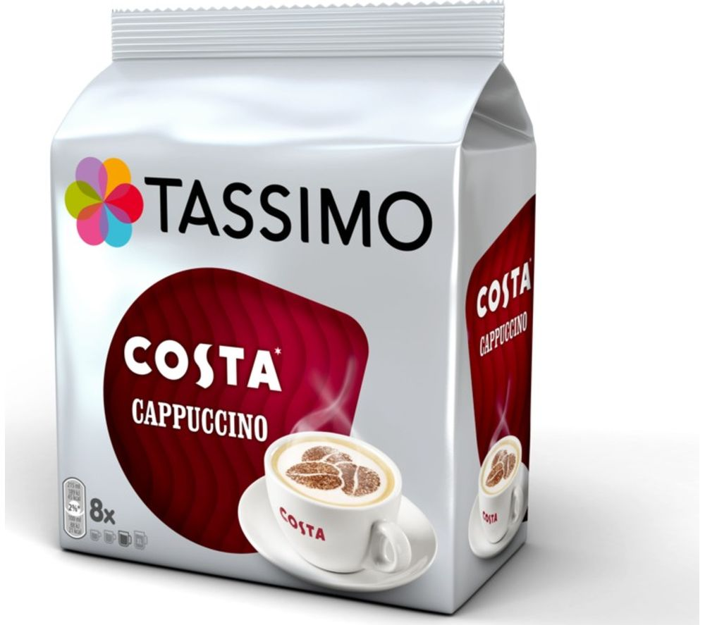 TASSIMO  Costa Cappuccino T Discs  Pack of 8