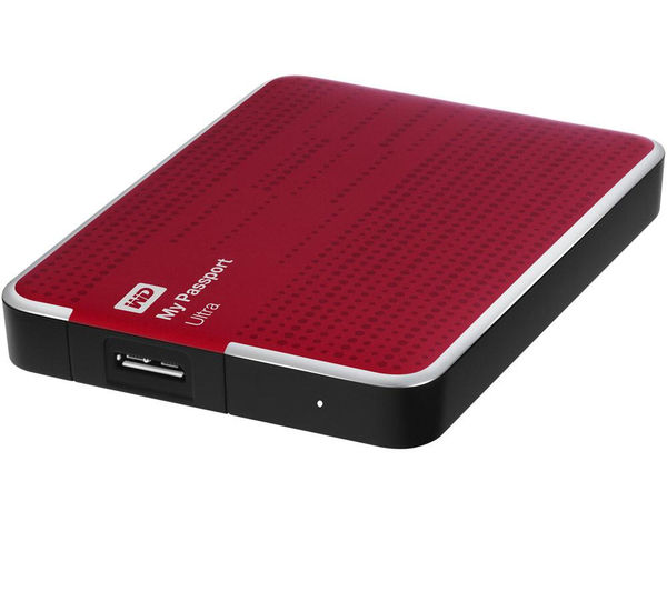 wd my passport ultra portable hard drive 2 tb red deals pcworld. Black Bedroom Furniture Sets. Home Design Ideas