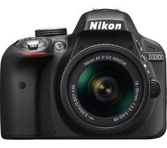NIKON D3300 DSLR Camera with 18-55 mm f/3.5-5.6 VR Lens - Black