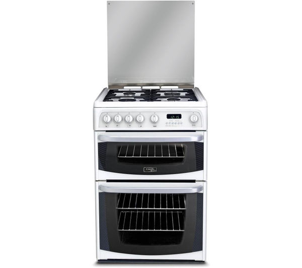 Hotpoint Cannon CH60GCIW Double Oven Gas Cooker (White)