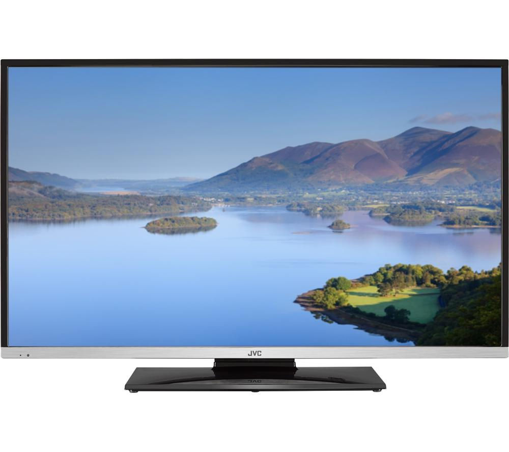 "JVC LT-40C755 Smart 40"" LED TV with Built-in DVD Player + L2HDINT15 2 m HDMI Cable"