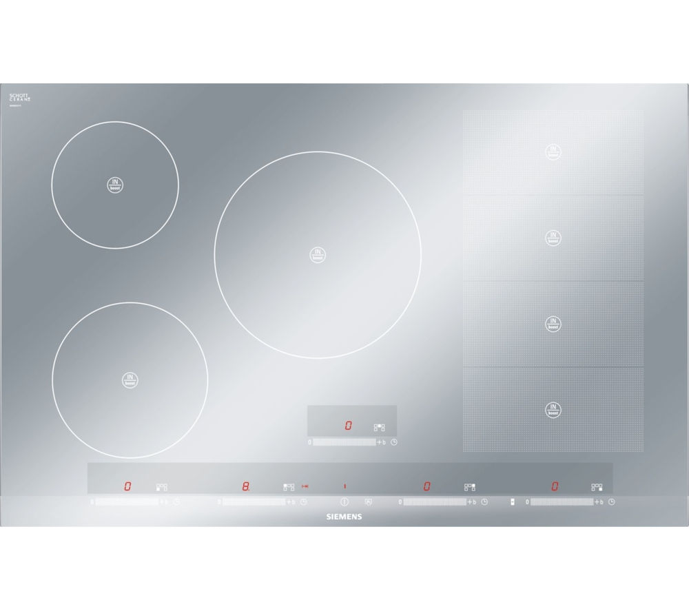 Buy siemens eh879sp17e electric induction hob stainless for Table induction 90 cm
