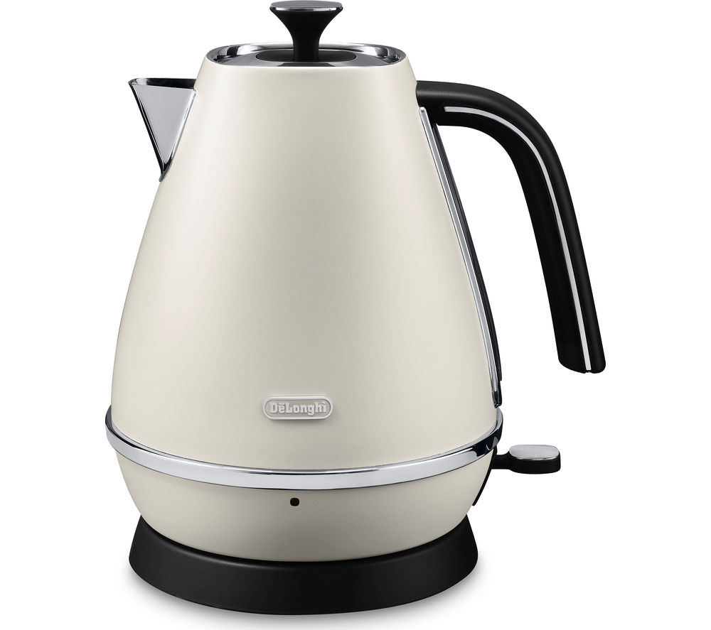 DELONGHI  Distinta KBI3001.W Jug Kettle – White +  Distinta ICMI211.W Filter Coffee Machine – White