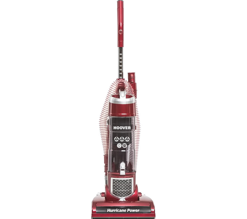HOOVER  Hurricane Power VR81 HU01 Upright Bagless Vacuum Cleaner - Red & Silver +  Jovis+ SM18DL4 Handheld Vacuum Cleaner - Red & Black