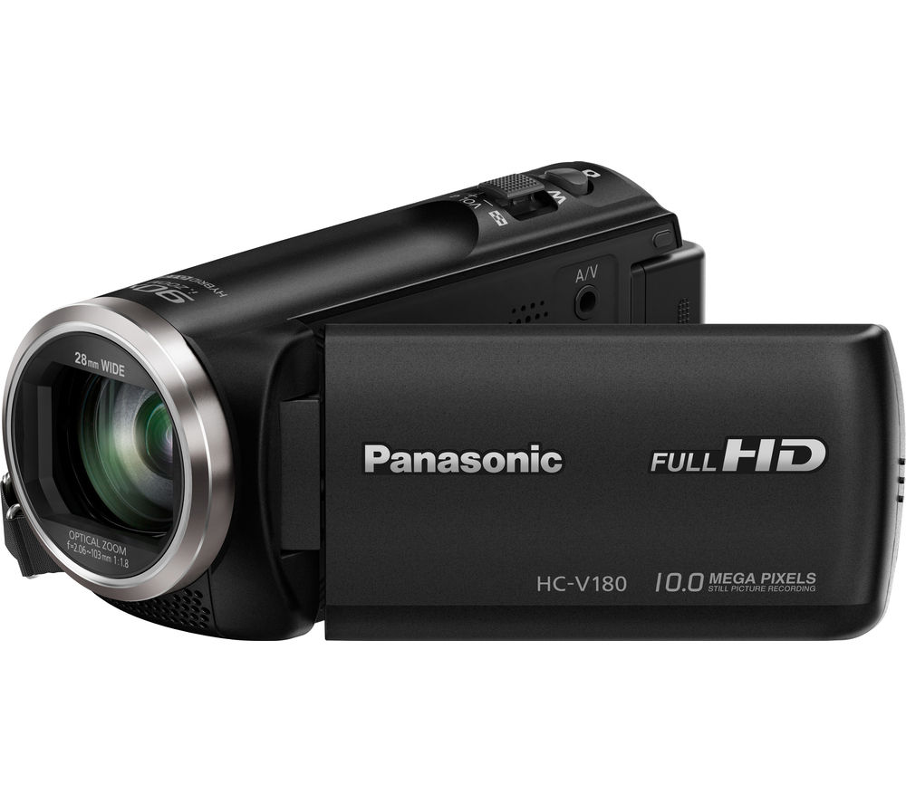 PANASONIC HC-V180EB-K Camcorder - Black + Adventura SH110 ll Camcorder Case - Black + Ultra Performance Class 10 microSD Memory Card - 32 GB