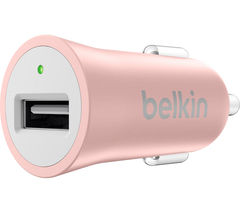 BELKIN Premium Car Charger - Rose Gold