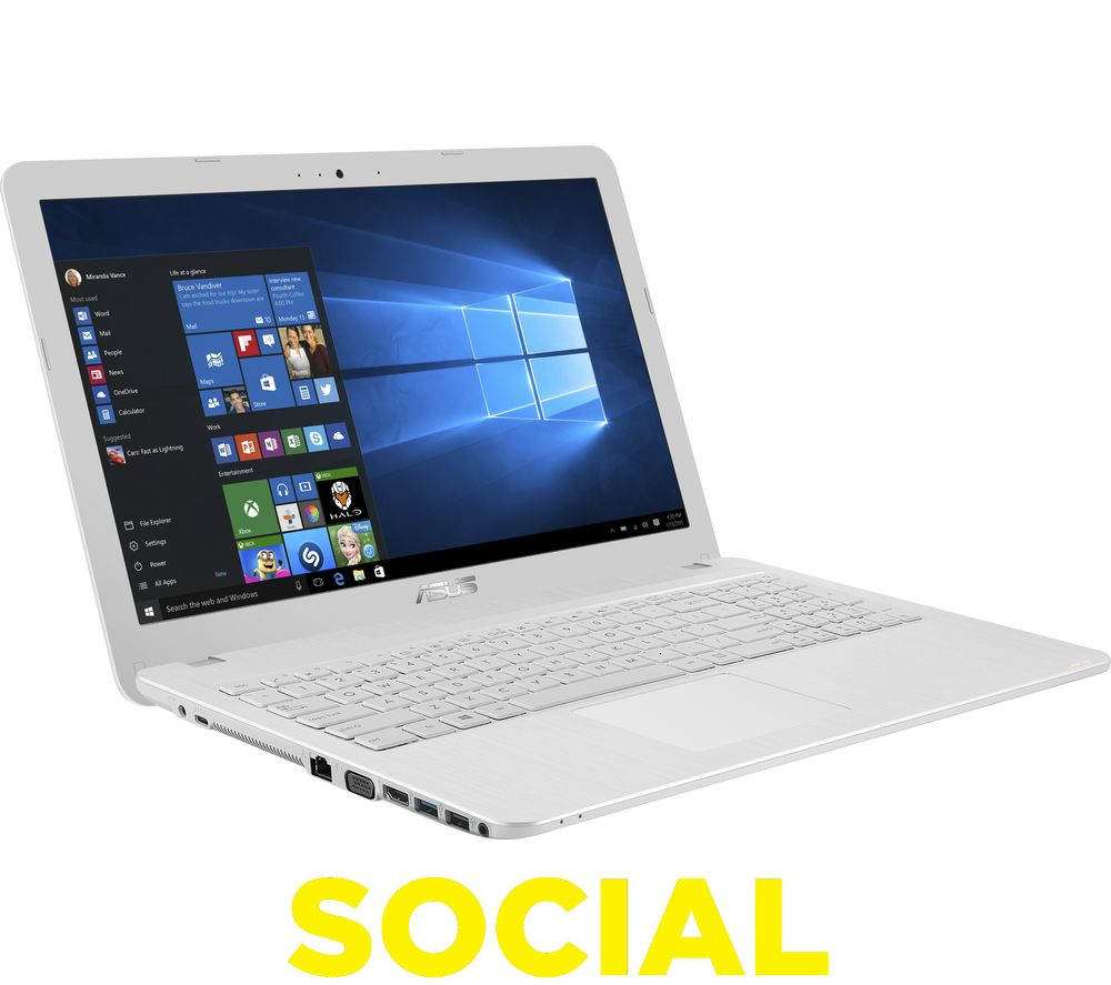 """ASUS X541SA 15.6"""" Laptop - White + Office 365 Personal"""